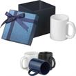 11 oz Classic C-handle ceramic mug Gift Set - 11 oz. ceramic mug in a gift box.