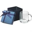 13 oz. Nordic Glass C-handle mug  Gift Set - 13 oz. glass mug in a gift box.