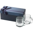 13 oz Nordic glass mug   2pc Gift Set - Gift set with two 13 oz. glass mugs in a luxurious gift box.