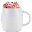 White Rotunda Gift - 12 oz. ceramic mug with optional candy fill