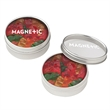 Small Round Window Tin with Gummy Bears - Small round window tin that's customizable and filled with 2 oz. of gummy bears.
