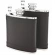 Leatherette Wrap Captive-Top Pocket Flask, 6 oz.