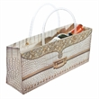Ivory Gator Purse Horizontal Wine Bottle Bag