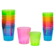 Dazzle Neon Plastic Shot Glasses, 1 oz., 12-pack