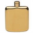Gold Plated Sleekline Pocket Flask, 4 oz.
