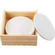 Wood Grain Ceramic Coaster Set - Wood Grain Ceramic Coaster Set