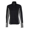 Adidas Women's Rangewear Full-Zip Jacket - Full-zip jacket with pockets and tonal stripe fabric underarms.