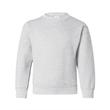 Hanes Ecosmart® Youth Crewneck Sweatshirt - Youth crewneck fleece sweatshirt with double-needle stitching and tag-free neck label.