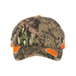 Outdoor Cap Frayed Camo Cap - Frayed cap with a pre-curved visor and matching undervisor. Blank product.