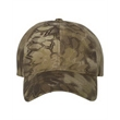 Outdoor Cap Garment-Washed Camo Cap - Garment washed camo cap made of 60% brushed cotton / 40% polyester twill.