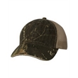 Outdoor Cap Washed Brushed Mesh-Back Camo Cap - Unstructured mesh cap, blank.