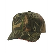 Outdoor Cap Camo Cap with Flag Sandwich Visor - Flag camouflage 60% brushed cotton/40% polyester twill cap. Blank product.