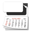 Add-A-Pad 12 Month Calendar - Magnetic 12 month calendar with punch-out section that produces 2 business cards into magnets.
