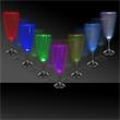 7 1/2 oz. Lighted Glow Champagne Flute - 7 1/2 oz Lighted champagne flute with 3 LED's creating 7 color combinations