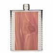 Redwood Inlay Pocket Flask, 6 oz.