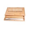 Delux Bread Cutting Board with Drawer and Bread Knife