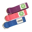 6FT Cotton Polyester Yoga Strap w/Double Metal D-ring