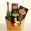 Chocolate Bubbly Favorites - Chocolate and sparkling wine gourmet basket.