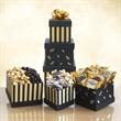 Black & Gold Elegance Chocolate Tower - Tower gift set of chocolates.