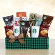 Starbucks Holiday Evergreen Sampler - Starbucks Holiday Evergreen Sampler box filled with coffee, mug, cocoa, and bakery items.