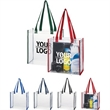 "12inch stadium pvc clear tote bag with long handles - 12""x12""x6"" pvc clear tote bag"