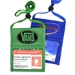 """Royal Blue Economy Event Neck wallet w/ Printed 3/8"""" Lanyard"""