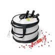 Collapsible Party Cooler - 28-can polyester collapsible party cooler with retractable metal bottle opener.