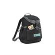 Park Side Backpack Cooler - 24-can black polyester backpack cooler.