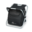 Deluxe Spectator Cooler Chair - 32-can polyester cooler with sturdy metal chair frame and padded seat.