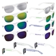 Mirrored Lens Sunglasses - Shatter-resistant sunglasses with mirror lens and customization on both arms