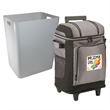 "42 Can Wheeled Soft Side Cooler wRemovable Hardside Liner - 12"" W x 21"" H x 11"" D cooler with soft sides, wheels, hard-side liner, zippered pocket and bungee on the lid from Coleman"