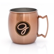 GRIGORY 17 OZ MOSCOW MULE MUG - 17 oz. Copper Coasted Moscow Mule Mug with Stainless Steel Interior Copper Coated Exterior 17 oz. Capacity Use for Beer or Coffee