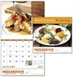 """Stapled Delicious Dining Lifestyle Appointment Calendar - Stapled Delicious Dining Lifestyle Appointment Calendar. Made from gloss paper stock with a UV coated cover. 11"""" w x 10"""" h closed."""