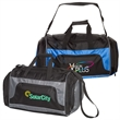 Getaway Duffel Bag - Polyester duffel bag with a zippered main compartment, shoe compartment, pockets, adjustable shoulder strap and padded handle