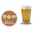 Premium Seeded Paper Coaster - Round drink coaster made of seeded paper