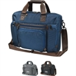 """Excelsior Slim Brief - Slim briefcase with multiple pockets and high quality hardware details, 17"""" laptop compartment."""