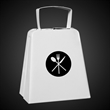 Large White Metal Cowbells - Our new extra large white metal cowbell is perfect for any event that needs more cowbell!