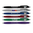 Silhouette Metallic Retractable Ballpoint Pen with Black Ink