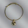 Bangle Bracelet with one Charm - Bangle Bracelet with one Charm
