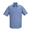 Red Kap Deluxe Western Style Short Sleeve Shirt - Deluxe short sleeve cotton / polyester shirt with a western-style front and back yoke.