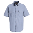 Red Kap Deluxe Short Sleeve Uniform Shirt - Deluxe short sleeve 4.5 oz., 65% polyester / 35% cotton Touchtex™ mock oxford shirt.