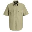 Red Kap Dress Uniform Short Sleeve Shirt - Short sleeve polyester / cotton poplin shirt with soil-release and wickability.