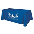 """Flat 3-sided Table Cover - fits 8 foot standard table - 151"""" x 65"""" flat, 3-sided polyester table cover fits 8' standard tables. Washable, flame retardant fabric."""