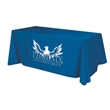 """Flat 4-sided Table Cover - fits 6 foot standard table - 128"""" x 86"""" flat, 4-sided polyester table cover fits 6' standard tables. Washable, flame retardant fabric."""