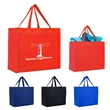 Heat Sealed Non-Woven Grande Tote Bag - Heat Sealed Non-Woven Grande Tote Bag. Made of 80 Gram Non-Woven, Coated Water-Resistant Polypropylene. Large Imprint Area.