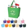Non-Woven Budget Shopper Tote Bag - Non-Woven Budget Shopper Tote Bag.  Made of 80 Gram Non-Woven, Coated Water-Resistant Polypropylene.  Recyclable.  Reusable.