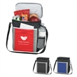 Cafe Kooler Bag - Cooler bag with double zippered closure and adjustable shoulder strap.