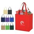 Non-Woven Avenue Shopper Tote Bag - Non-Woven Avenue Shopper Tote Bag.  Made of 80 Gram Non-Woven, Coated Water- Resistant Polypropylene.  Recyclable.  Reusable.