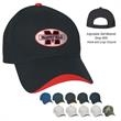 Wave Sandwich Cap - Wave Sandwich Cap. 100% Brushed Cotton Twill, 6 Panel, Medium Profile, Structured Crown & Pre-Curved Visor.