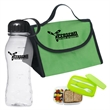 Budget Lunch Kit - Lunch bag and container with matching lid, clear 18 oz bottle with colored cap